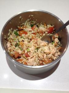 Salmon rice salad