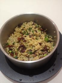 Sundried tomato, olive and brown rice salad