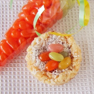 Coconut Crispy Treat Nests