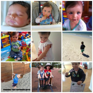 Collage from birth (good and bad weeks) till 2 years of age
